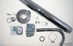 Trimkit Sachs 50cc, Kyrkportsförgasare 17mm, 32 mm avgassystem osv