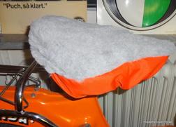 Sadelöverdrag grå/orange